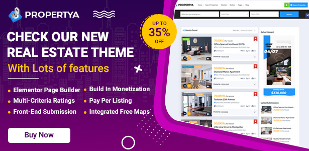 Propertya – Real Estate WordPress Theme